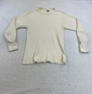 Vintage Dickies Thermal Underwear Long Sleeve Shirt Size Men Large Made in USA