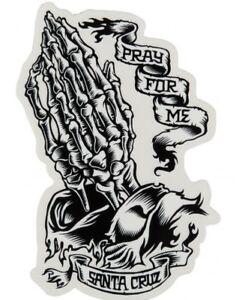 SANTA CRUZ Pray For Me Skeleton - Jason Jessee - Skateboard Sticker