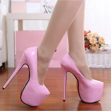 womens High 18cm Stiletto Shoes Waterproof High heels Women Nightclub Shoes