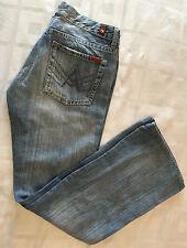 Seven 7 for All Mankind Women Wide Leg Blue Denim Jeans Size 29