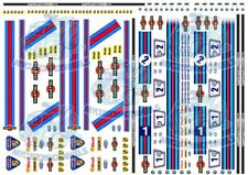 Martini Racing - Decals for Model Cars in all scales from 1:64 up to 1:18