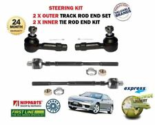 FOR NISSAN 200SX 2.0 1994-> 2X INNER + 2X OUTER STEERING TRACK RACK TIE ROD END