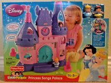 FISHER PRICE LITTLE PEOPLE PRINCESS SONGS PALACE W/ CINDERELLA & SNOW WHITE *NU*