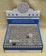 BOX OF 100 ROUND DIME COIN TUBES - WHITMAN - NO COINS