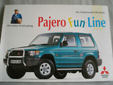 Mitsubishi Pajero Fun Line brochure Sep 1995 German text