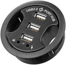 3fach USB 2.0 Hub + Audio für Schreibtisch        #d564