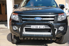 Nudge Bar Black Steel Grill Guard to suit Ford Ranger PX MK MKII 2011-2018