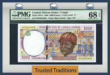 TT PK 104Cf 2000 CENTRAL AFRICAN STATES / CONGO 5000 FRANCS PMG 68 EPQ TOP POP!