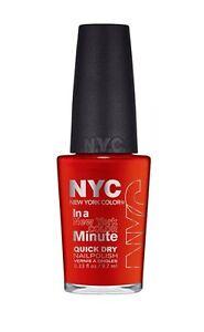 """NYC Color Minute Nail Polish,""""CHOOSE YOUR SHADE!"""""""