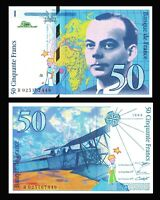 France, 50 francs, 1994, P-157  pre-Euro, UNC > Exupery, Airplane