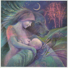 PAGAN WICCAN GREETING CARDS Arta Mother Love GODDESS Bear Baby HARE WENDY ANDREW