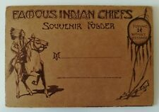 Famous North American Indian Chiefs - old lettercard with 22 views