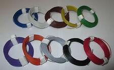 [1m = 0,1695 €] decoderlitze extra fina 0,04 mm² 10 anillos a 10 m * nuevo *