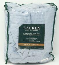Lauren Ralph Lauren Bronze Comfort 100% Cotton Blanket - King - Faded Denim