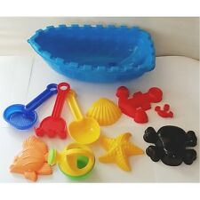 Beach Toys - 11 Pieces Blue Boat Set (Ty021)