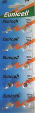 EUNICELL 10 Piles bouton AG1 LR621 164 364 531  1,5 VOLT