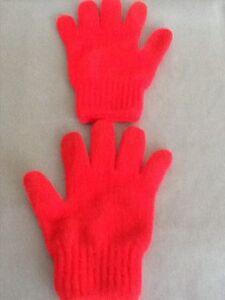 Kids red colour gloves