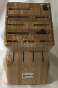 WUSTHOF 15 Slot Bamboo Knife Storage Block #2265-5-100 New & Sealed