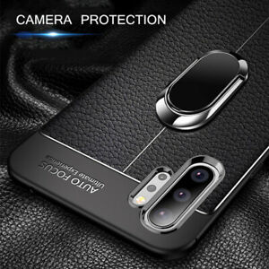 For Samsung Galaxy S21 S20 Ultra Note20 Magnetic Ring Holder Soft TPU Case Cover