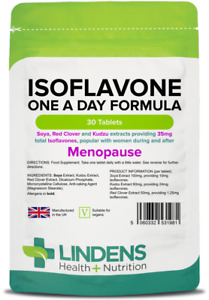 Isoflavones Menopause Support Soy Red Clover 30 Tablets Lindens