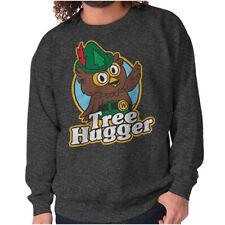 Tree Hugger Vintage Woodsy The Owl Nature Crewneck Sweat Shirts Sweatshirts