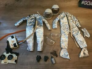 Vintage 1970 Hasbro GI Joe Astronaut Space Suit Helmet Gun Pack Camera Boots Lot