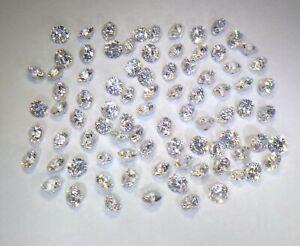 21.15ct Loose Round Cubic Zirconia Gemstones 3.26 down to 2.75mm
