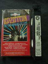 LED ZEPPELIN THE SONG REMAINS THE SAME RARE AUSTRALIAN PAL BIG BOX VHS VIDEO!