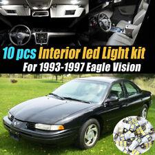 10pc Super White Car Interior LED Light Bulb Kit for 1993-1997 Eagle Vision