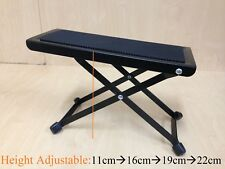 Haze 4-Way Height Adjustable Guitar Footstool,Metal Frame,Rubber Foot Pad. GS017