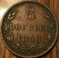 1858 GUERNESEY 8 DOUBLES