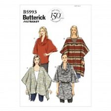 B5993 Butterick Sewing Pattern FAST & EASY Wrap Top Tunic Misses 4-26 XS-XXL OOP