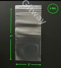 """6 Mil TRIPLE THICK 4/"""" x 4/"""" Clear Flat Open End POLY Bags"""