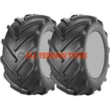 18x850-8 18x8.50-8 Ride On Lawn Mower Tractor Chevron Tractive Tread PAIR TYRES