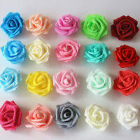 100Pcs 7cm Foam Rose Artificial Flower Bouquet Wedding Party Bouquet DIY Decor