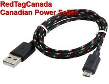 1 m Micro USB Knit Charging Data Cable for Samsung, HTC, Nokia Cell Phones Black