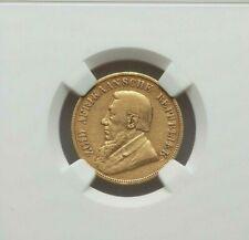 1896 SOUTH AFRICA PAUL KRUGER GOLD POND NGC VF-30 KM10.2. AGW 0.2352 oz.