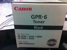 ORIGINALE CANON gpr-6 6647a003 TONER IR2200 IR2800 IR3300 ir3320 a-Ware
