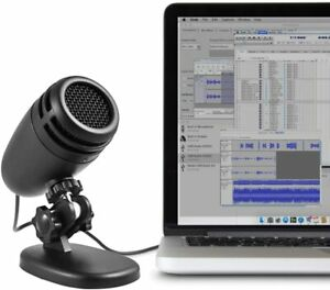 Cyber Acoustics Premium USB Condenser Microphone - Featuring a Cardiod Recording