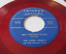 The Super-Sonics - New Cherokee Boogie 45 Rainbow 222 red vinyl INSTRO VG+