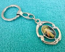 Catholic Key Chain Our Lady Divine Mercy Jesus Appendage from Medjugorje Oval