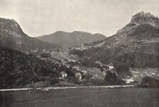 JURA. Salins. générale 1895 old antique vintage print picture