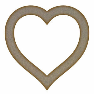Heart Frame MDF Laser Cut Craft Blanks in Various Sizes