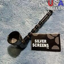 NEW Small Black Bamboo Smoking Pipe Tobacco Herb Portable Metal Pocket Size