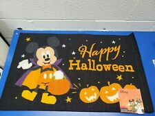 Mickey Mouse Halloween Rug Floor Door Mat Decor Disney Pumpkin Trick or Treat