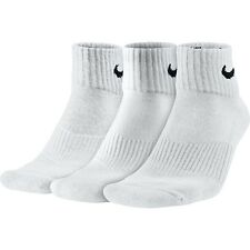 a40869410 Nike Socks 3 Pairs Men's Black White Sports Crew Ankle Quarter Unisex Cotton