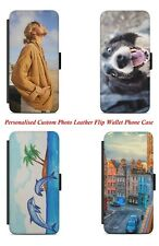 Personalised Custom Photo Printed Personalized Leather Flip Wallet Phone Case