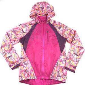 Under Armour Run Anemo Jacket Windbreaker Small S Heatgear Pink Running Womens