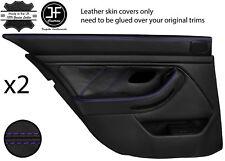 Violet Point Arrière 2X complet porte carte en cuir couvre Fits BMW 5 Series E39 95-03