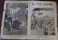 LE PETIT JOURNAL N°465. 15/10/1899.ÉVÉNEMENTS DU TRANSVAAL-DÉPART DE TROUPES AN